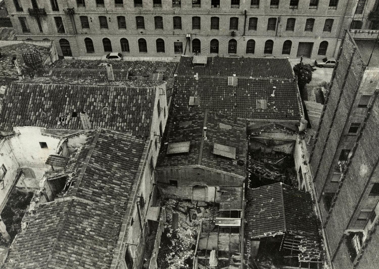 1984 AMDS Naus en ruïnes de la fàbrica tèxtil el Vapor Vell.